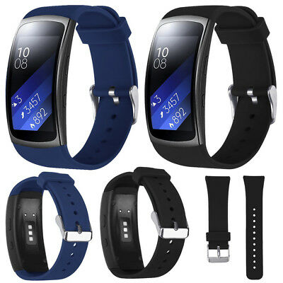 Men's Sports Silicone Watch Replacement Band Strap For Samsung Gear Fit2 Pro