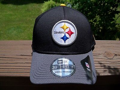 28d14380d35 NFL PITTSBURGH STEELERS New Era 39Thirty FLEX FIT Hat ~ Size ~ SMALL-MED