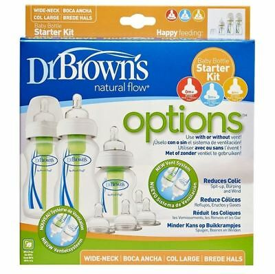 Dr Brown's Anti-Colic Wide Neck Baby Bottle Starter Kit