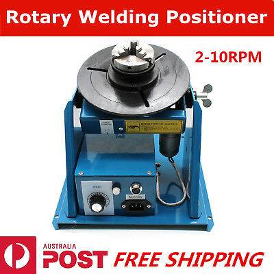 2-10RPM Welding Positioner Weld Turntable Table Rotary Tilt 3 Jaw Lathe Chuck AU