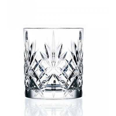 RCR MELODIA CRYSTAL LIQUOR GLASSES SET Lead Free Alcohol Scotch Whisky Whiskey
