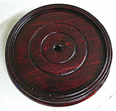 "Brown Color Wooden Stand For Vase & Jar Decor 4.25""d x 1.5""h"