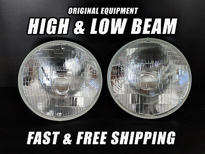 OE Front Halogen Headlight Bulb for AMC Javelin 1968-1974 High & Low Beam Set 2