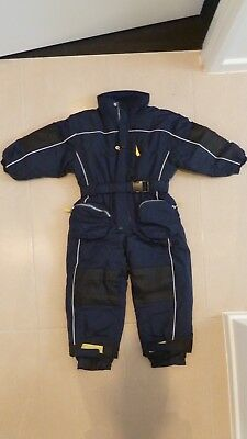 Snow Suit, Boys, Size 3-4 years, European 104, Navy, All-In-One, Pre-Owned