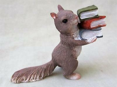 EDUCATED SQUIRREL CARING BOOKS Enchanted Fairy Garden Resin Top Col FREE SHIP