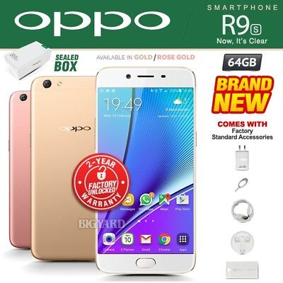 New & Sealed Factory Unlocked OPPO R9S Rose Gold Dual SIM 64GB Android Phone