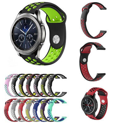 Replacement Silicone Band Strap Bracelet For Samsung Gear S3 Frontier Watch 22mm