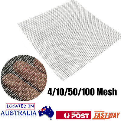 4/10/50/100 Mesh Stainless Steel Filtration Wire Woven Cloth Screen Filter Sheet