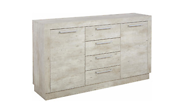 "Sideboard Kommode ""Montevideo 139cm Beton Dekor OUTLET Discount"