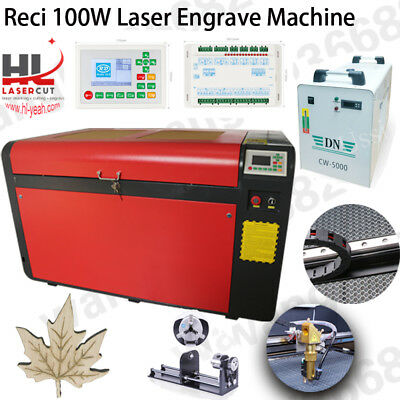 DSP 100W CO2  laser cutting machine with Ruida mainboard and linear guide 1060