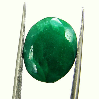5.99 Ct Certified Natural Green Emerald Loose Oval Cut Gemstone Stone - 131219