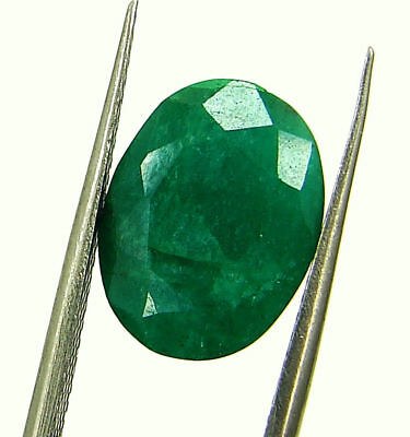 5.72 Ct Certified Natural Green Emerald Loose Oval Cut Gemstone Stone - 131242