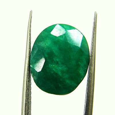 5.72 Ct Certified Natural Green Emerald Loose Oval Cut Gemstone Stone - 131229