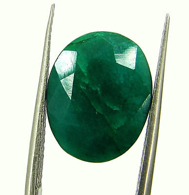 5.82 Ct Certified Natural Green Emerald Loose Oval Cut Gemstone Stone - 131240