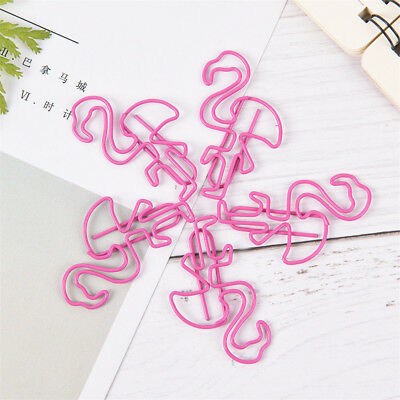 4 Pcs/lot Pink Flamingo Bookmark Paper Clips for Book Stationery School Office