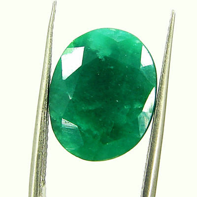 6.83 Ct Certified Natural Green Emerald Loose Oval Cut Gemstone Stone - 131199