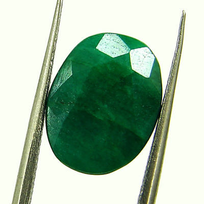 5.11 Ct Certified Natural Green Emerald Loose Oval Cut Gemstone Stone - 131258