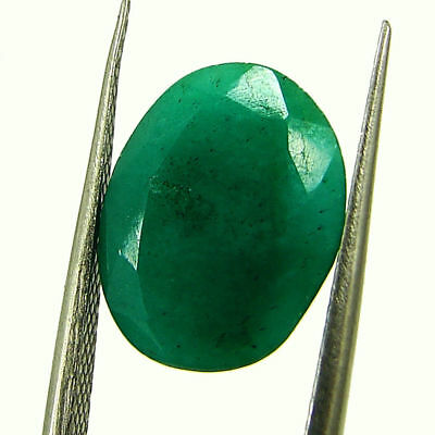 4.92 Ct Certified Natural Green Emerald Loose Oval Cut Gemstone Stone - 131266