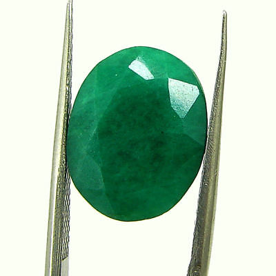 7.05 Ct Certified Natural Green Emerald Loose Oval Cut Gemstone Stone - 131200