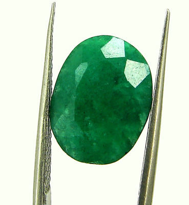 6.77 Ct Certified Natural Green Emerald Loose Oval Cut Gemstone Stone - 131205