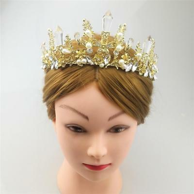 Crystal Tiara Crowns Hair Jewelry Wedding Pageant Bridal Banquet Decorations