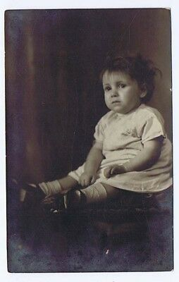 Young Child Vintage Photograph c1930's by Watson of Aberdare