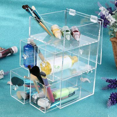 Beautify Acrylic Makeup Organiser 5 Tier Clear Cosmetic Storage Box Tray Drawers