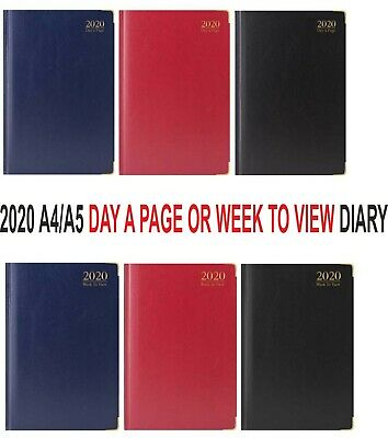 2019 Diary A5/A4 Size Week to View / Day To a Page Hard Back Case Bound Diary