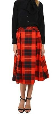 bf8bb1b02 NEW KATE SPADE Woodland Plaid Midi skirt Size 0 $368 Fairytlred Neimans  Saks FAB