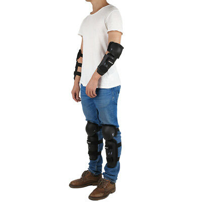 Motorcycle Motocross Knee Shin Elbow Pad Cushion Armour Body Brace Guard