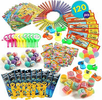 120 Pack Party Bag Fillers Kids Children's Toys Games Wedding Loot Favour Prizes