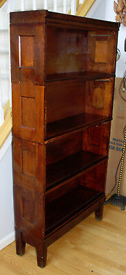 YAWMAN & ERBE Rochester NY Oak Stacking Barrister Boxes Bookcases SIX PIECE Antq