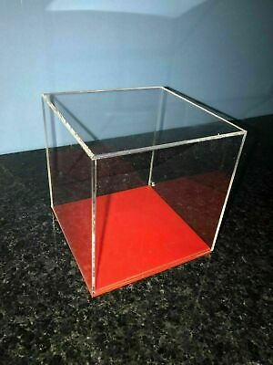 Acrylic Cube Display Stand Square Box Perspex with choice of colour bases