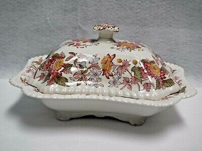 SPODE china SPODE's ASTER pattern COVERED VEGETABLE foot chip crazing