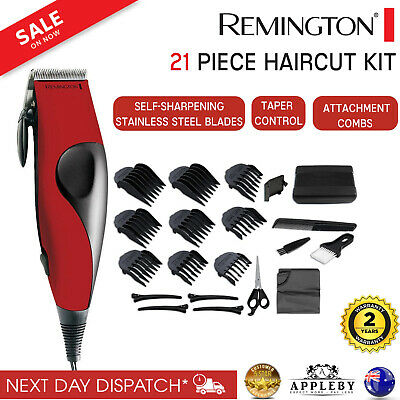 Remington Electric Hair Clippers 22Pce Mens Clipper Trimmer Shaver Storage Case