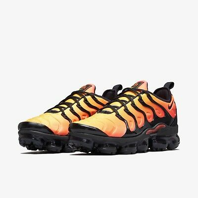 8e4a184420d60 NIKE AIR VAPORMAX Plus Black total Orange 924453 006 Us Mens Sz 6-12 -   250.00