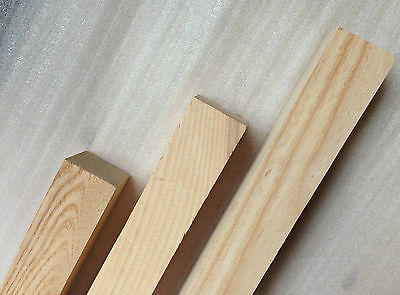 American Ash 50mm Square Wood Turning Spindle Blank - Woodturning