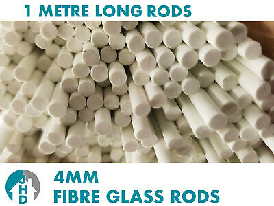 12 x 1m Long Fibre Glass Quality Rods 4mm Thick Roman Blinds - FREE POST