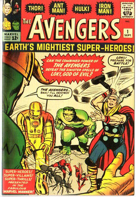 Avengers 1 Custom Made Cover with 1965 Reprint Iron Man Thor Hulk REPRINT
