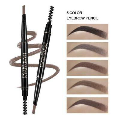 HANDAIYAN Double Headed Eyebrow Pencil With Brush Automatic Rotation Makeup Tool