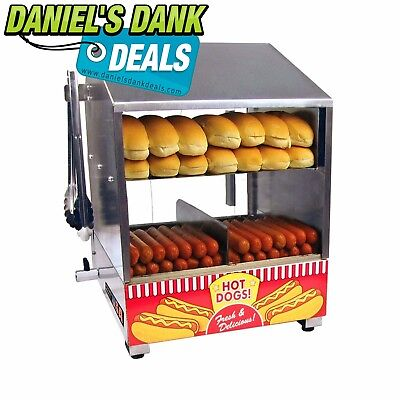 Paragon 8020 Hot Dog Hut Steamer Merchandiser for Professional Concessionaires R
