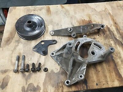 V8 AMC Jeep power steering pump pulley double groove 304 360 401