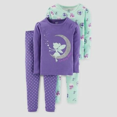 e32b0db2964d CARTER S JUST ONE You Girls Cocoa Helps Me Sleep 4 Piece Pajamas 4T ...