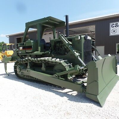 1989 Caterpillar D7G  Dozer with ripper! LOW HOURS New Motor! Ex Military