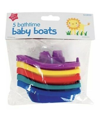 5 PACK BABY KIDS INFANT BATH TUB PLAY TIME FLOATING PLASTIC BOATS TOYS New