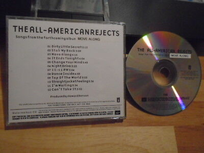 RARE ADVANCE PROMO All-American Rejects CD Move Along rock Canadian Rifle 2005 !
