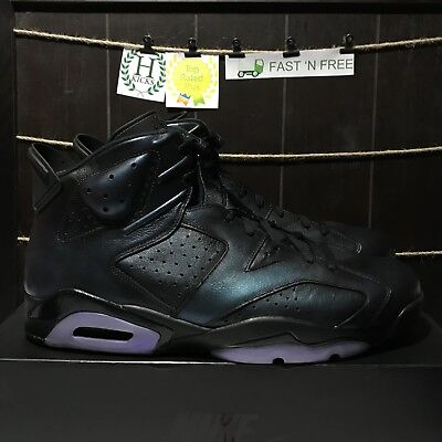 82a1eb977bd066 Nike Air Jordan 6 Retro All Star Chameleon Black White Green 907961 015  Size 16