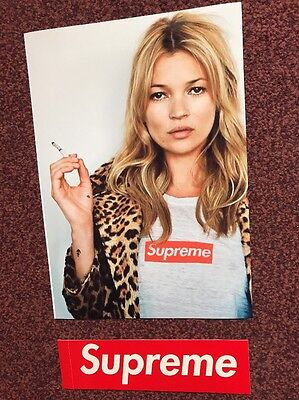 SS12 SUPREME x KATE MOSS Picture Tee Poster A4(280gsm)21x30 cm Box Logo Sticker