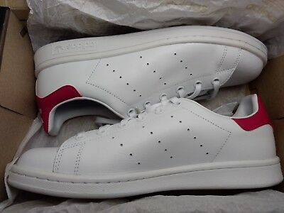 3b962e9fb88 Youth kids Adidas ORIGINALS STAN SMITH B32703 White White Pink size 7 US
