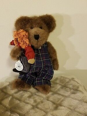 """Boyds Bears PLUSH 2000 ~10"""" SIMON BEANSTER AND ANDY~ BEST DRESSED SERIES"""